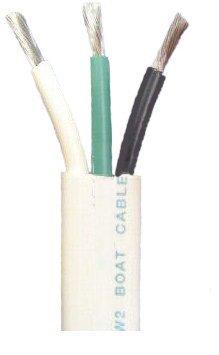 Amazon.com: 16/3 AWG Triplex Tinned Marine Wire, Black/Green/White ...