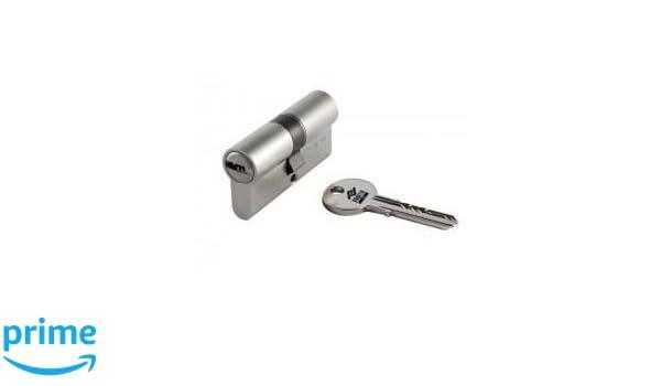 Abus D10 N 30/50 - Eurocilindro con doble embrague llave de puntos niquel 5 K y T SKG: Amazon.es: Bricolaje y herramientas