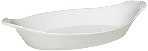 Maxwell and Williams P017323 Basics Oval Au Gratin Dish, 7-Inch, White by Maxwell and Williams Designer Homewares
