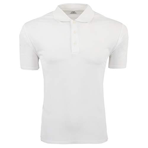 Polo Climalite Adidas Pique - adidas Men's Climalite Pique Polo White/Black L