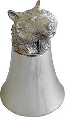 Great Gifts UK- Bear Pewter Jigger - Dia:80mmH:110mm /Pewter (Bear Pewter)