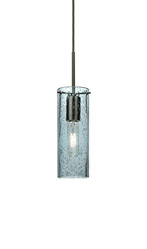 Besa Lighting 1JT-JUNI10BL-BR Juni 10 - One Light Cord Pendant with Flat Canopy, Choose Finish: BR: Bronze, Choose Mounting Option: 1JT : Flat Canopy Cord Fixture, Choose Lamping Option: 60W-A19-I