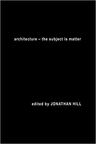 Architecture: The Subject is Matter