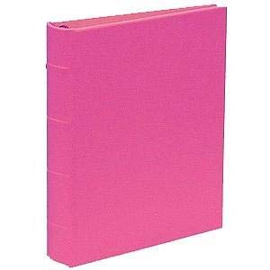 Standard 3-ring Saffiano-Pink bonded leather album with slip-in pocket pages by Graphic ImageTM - 4x6