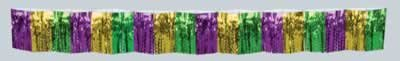 2-Ply FR Diamond Metallic Fringe Drape (gold, green, purple) Party Accessory  (1 count) (1/Pkg)