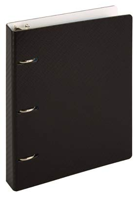 Office Depot Mini Binders with Tab Dividers and Storage Pocket, 1'' Round Ring, Pack of 2 Binders (1 Black, 1 White) by Office Depot