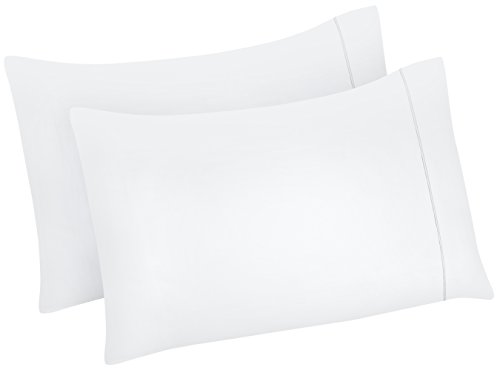 Utopia Bedding Cotton Pillowcases 2 Pack - (Queen, White) - Elegant Double-Stitched Tailoring