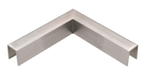 Brushed Stainless 90 Degree Horizontal Corner for 11 Gauge Crisp Corner Cap Railings