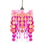 Hanging Disc Chandelier - Pink / Hot Pink Includes 15' Light kit (Wal Mart Spa)