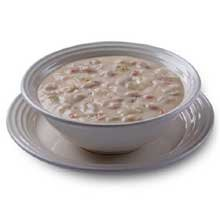 TrueSoups Clam Chowder - 8 lb. bag, 4 per case