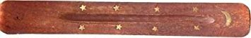 Wooden Incense Stick Holder with brass inlay by Aargee