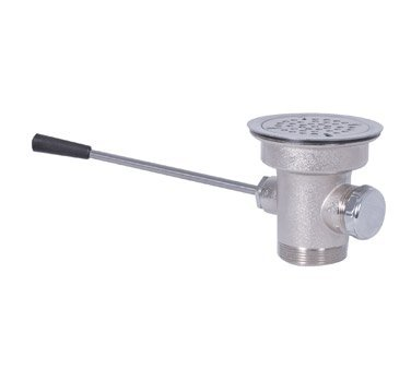 BK Resources Lever Waste, Fits 3-1/2'' opening, Stainless Steel Strainer