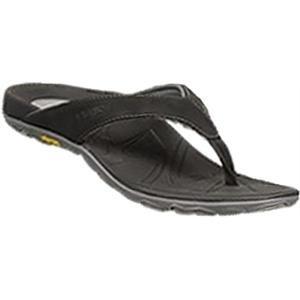 Vionic Mens Bryce Toe Post Sandal Black/Grey Size 10