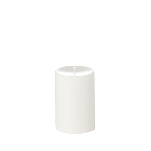 Yummi 4x6 Unscented Column Pillar Candle, White, ea