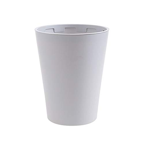 YZFGY Household Trash Can Creative Living Room Round Plastic Kitchen Toilet Bathroom Trash can (Color : Clamshell Light Gray)
