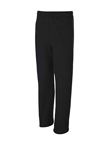 Jerzees Dri-Power Poly Pocketed Open-Bottom Sweatpants, Large - Black ()
