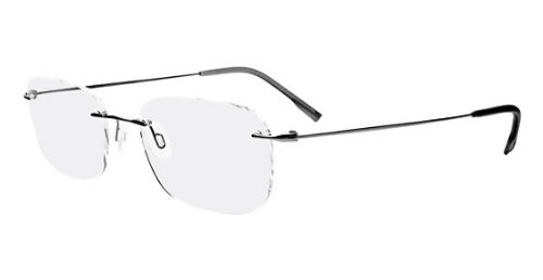 Calvin Klein Collection CK536 Eyeglasses CK536 098 Gunmetal Demo 52 19 - Optics Titanium Reading Glasses Personal
