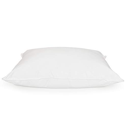DOWNLITE Luxury Hotel Collection 400 TC 25/75 Down and Feather Blend Pillow - Firm Density Hypoallergenic White Goose Down (Queen 20 x 30)