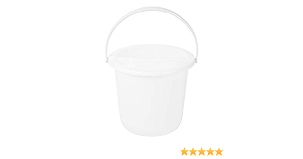 Plastic Street Collection Charity Donation Bucket White 4 Pack