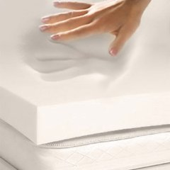 Memory Foam Solutions 3-Inch Thick Visco Elastic Memory Foam Mattress Pad Bed Topper, Queen, 4 Pound Density
