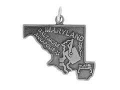 Sterling Silver Maryland State ()