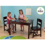 KidKraft Rectangle Table and 2 Chair Set - Espresso (Kidkraft Table And Chairs)
