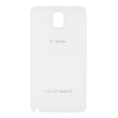 OEM Samsung Galaxy Note 3 T-mobile SM-N900T Battery Door Back Door Cover Replacement White (Bulk Packaging)