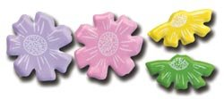 (Queen & Co Flower Brads Assorted Small 12/Package, Pastel)