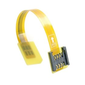 CableCC GSM CDMA Standard UIM SIM Card Kit Male to Female Extension Soft Flat FPC Cable Extender 10cm