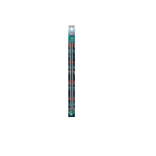 Inox 14 inch Single Point Aluminum Knitting Needles Size 2 (2.75mm) - Inox Single