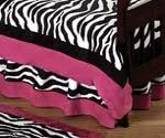 Funky Zebra Bed Skirt for Toddler Bedding Sets by JoJo Designs