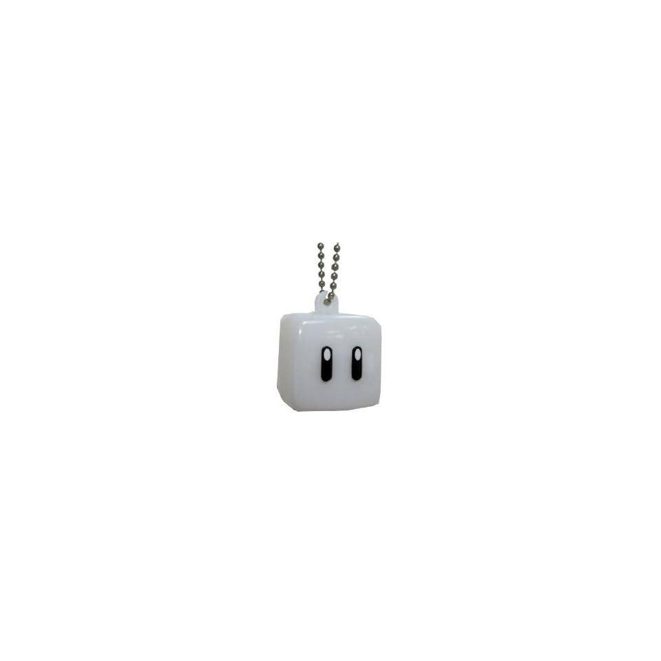 Nintendo Super Mario Bros. Wii Light Up Mascot Glow Block Charm Keychain