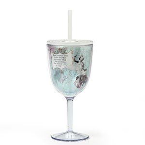 Enesco Holy Crap Art Acrylic Wine Glass by Erin Smith, 10.63-Inch, Answer is Wine