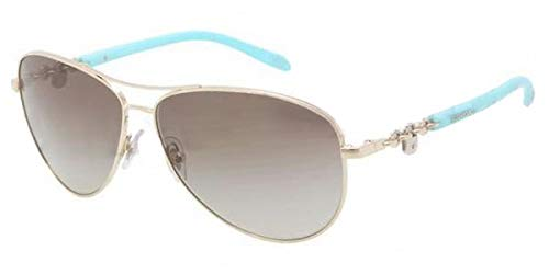 Tiffany & Co Aviator TF3034 60213M Gold Metal Green 60 mm Lens Sunglasses -