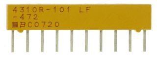 1 piece SIP ISO RES N//W BOURNS 4608X-102-202LF RESISTOR 2/% 2KOHM 4