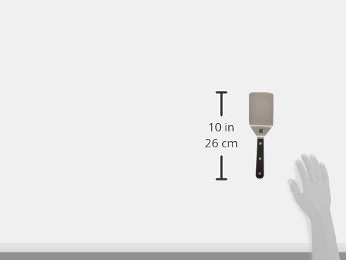 Sabatier Triple Rivet Stainless Steel Wide Turner, Black, 9.65-Inch -
