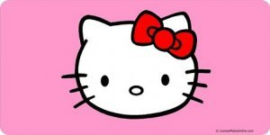 hello kitty car tag - 5
