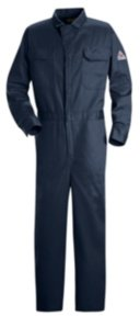 Bulwark Flame Resistant Deluxe Coverall Navy Excel FR 9oz
