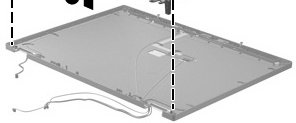 HP 494006-001 Display enclosure - Includes wireless antennae and microphone - For use in computer models with LCD -