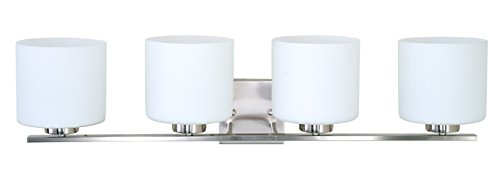Sunshine Shadow Wall Vanity Sconce Lamp Bathroom Alabaster Glass Cover (4 Lights)