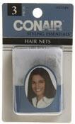 Conair 55332 Brown Hair Net 3 Count