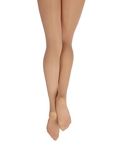 Nylon Tights Capezio (Capezio Hold & Stretch Plus Size Footed Tight - Size 3X, Light Suntan)