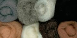 Wool Roving 12 .25oz 8/Pkg-Furry Friends