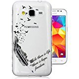 For Galaxy Core Prime Case , ivencase Silicone Cover Simple Ultra Slim Transparent Soft TPU Back Skin Thin Fit Samsung Galaxy Core Prime SM-G360F G3606 + One