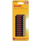 Kodak Kehd3A20 Extra Heavy-Duty AAA Batteries, 20 Pack