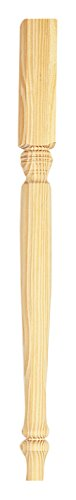 Waddell 2921 Country Pine Table Legs, (Country Table Leg)