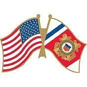 - USCG, United States Army and United States Coast Guard Flag - Original Artwork, Expertly Designed, PIN - 1.25