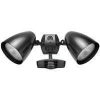 RAB Lighting STL110HB Stealth 110 Sensor with Twin Precision Die Cast HB101 Bullet Floods, Aluminum, 110 Degrees View Detection, 1000W Power, 120V, Bronze Color