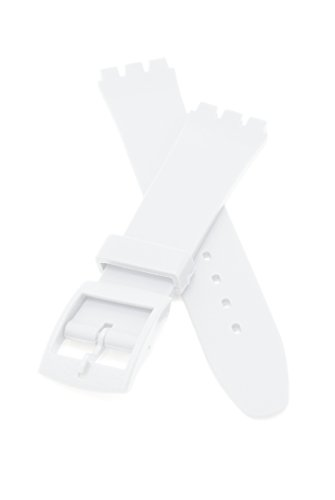 PerFit Swatch Replacement Watch Band, 17mm to fit Originals Gent and others, Matte White
