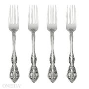 Oneida Michelangelo Fine Flatware Set, 18/10 Stainless, Set of 4 Dinner Forks from Oneida